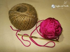 Jute String, Cord, and Hook